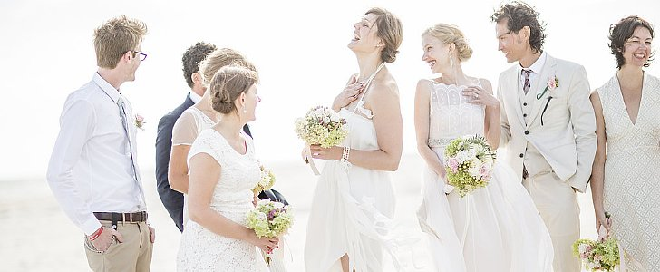 You'll Love This Truly Cinematic, Vintage Beach Wedding