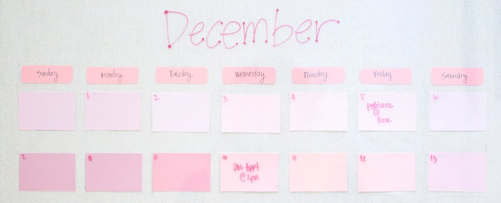 Make Big Plans With This Chic DIY Paint-Chip Calendar