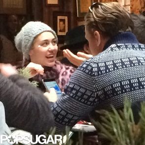 Miley Cyrus and Patrick Schwarzenegger Eating With Arnold
