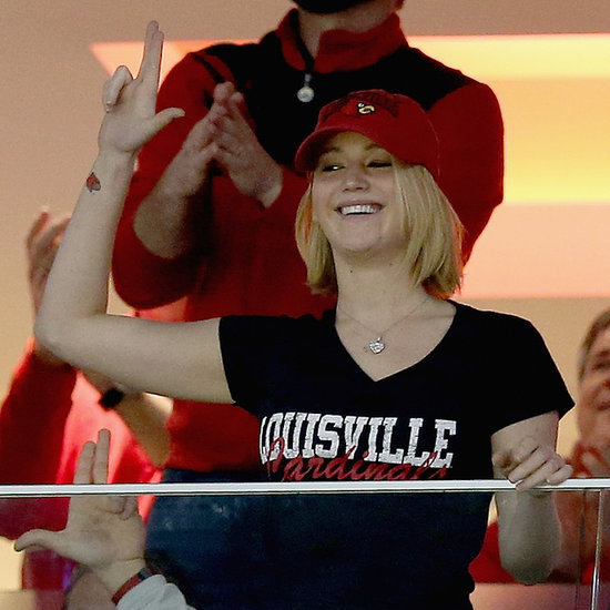 Video of Jennifer Lawrence at Louisville Basketball Game