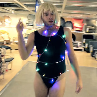 "Guy Performs Sia's ""Chandelier"" at Ikea 