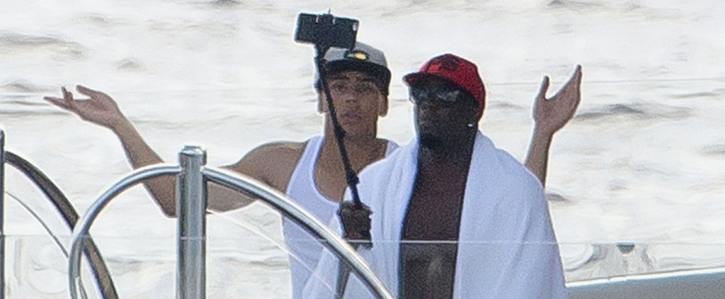 Diddy Breaks In His Selfie Stick During His Holiday Vacation