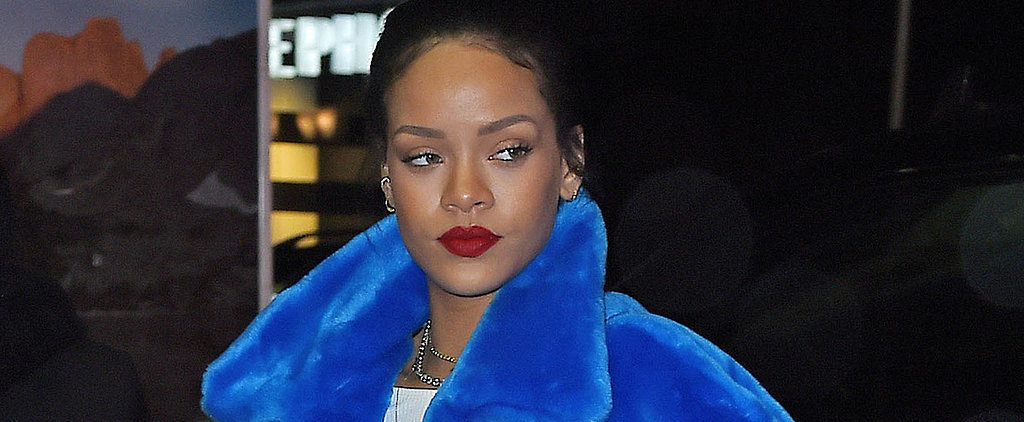 Rihanna Braves the Cold in a Colorful Sesame Street-Inspired Coat