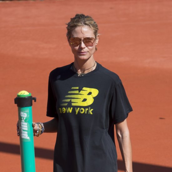 Heidi Klum Playing Tennis