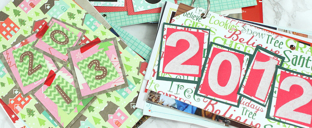 Turn Old Holiday Cards Into a Memorable DIY Booklet