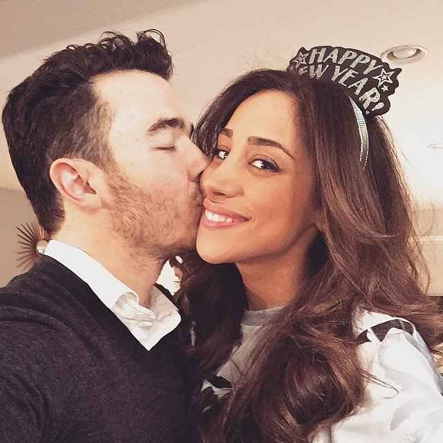 Kevin and Danielle Jonas shared a kissing selfie.
