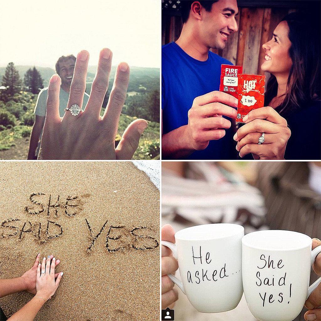 Cute Engagement Announcements