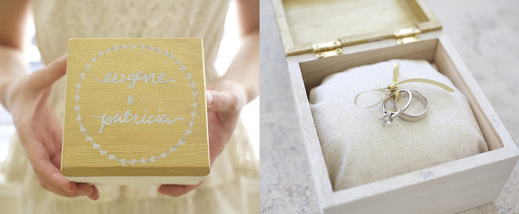 Add a Special Touch to Your Wedding With a DIY Hand-Lettered Wooden Ring Box