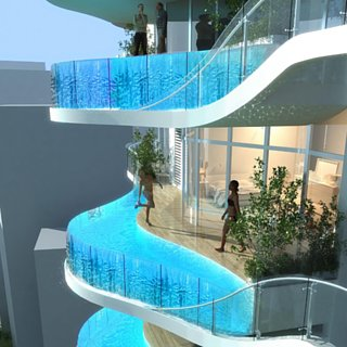 Luxury Condo in Mumbai With Balcony Pools