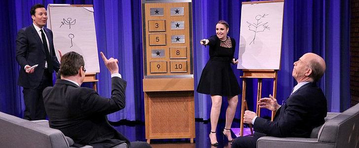 Lena Dunham Just Owned Jimmy Fallon in a Game of Pictionary