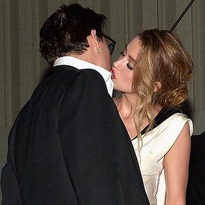 Johnny Depp Kissing Amber Heard at Art of Elysium Gala 2015