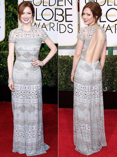 Ellie Kemper on Her Golden Globes Dress: 'It Weighs 500 Pounds'