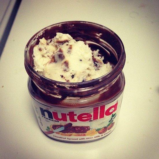 Scrape the Nutella Jar With Ice Cream