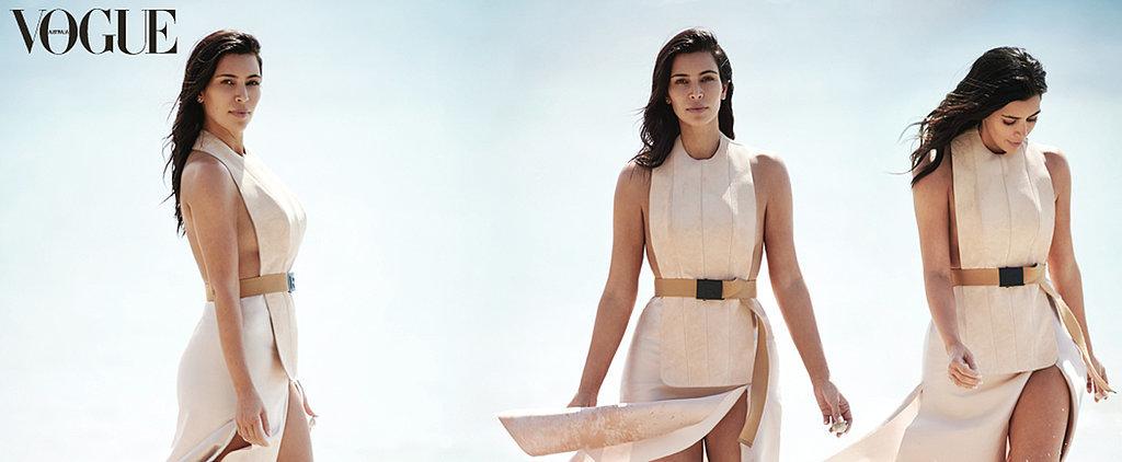 Kim Kardashian Graces the Cover of Australian Vogue — Solo