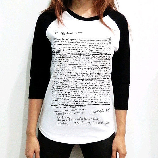 Kurt Cobain's Suicide Note Just Became a T-Shirt?!