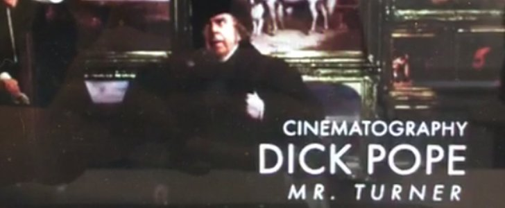 """Dick Poop"" Was Accidentally Nominated For an Academy Award"