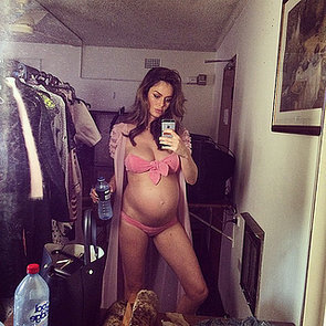 Pregnant Celebrities Showing Baby Bump in Bikini Selfies