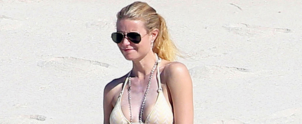 Gwyneth Paltrow Parties in a White Bikini With Friends