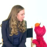 Elmo and Chelsea Clinton Promote Reading to Kids