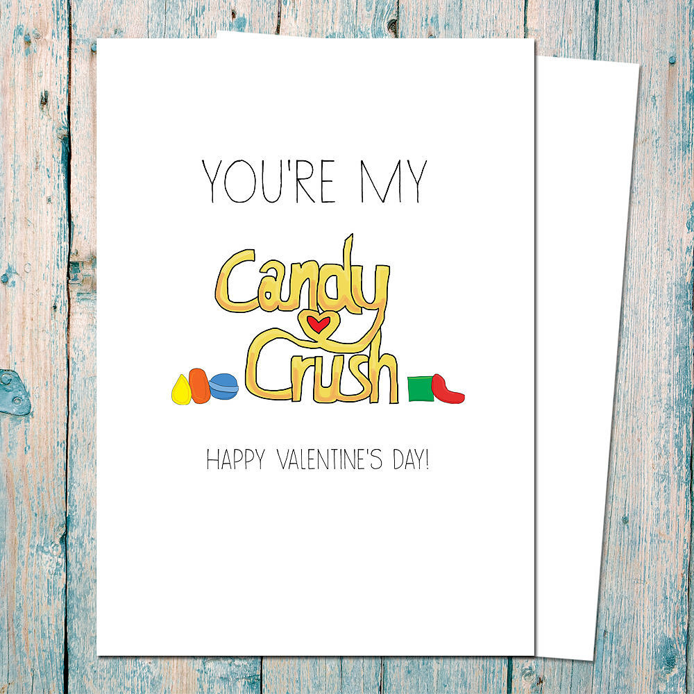 For your valentine, crushing candy ($4) means a lot.