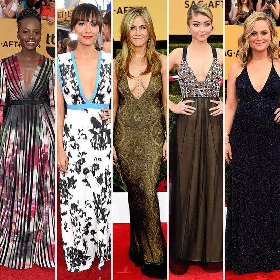 Low-Cut Dresses at the SAG Awards 2015