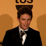 Eddie Redmayne at the SAG Awards Press Room 2015