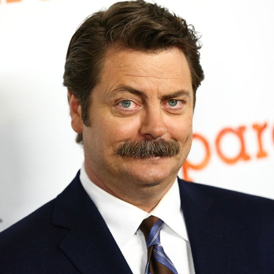 Nick Offerman's Mustache-Less Face Is Almost Unrecognizable