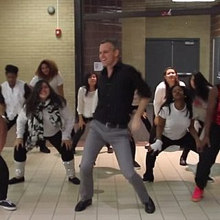 "Teacher and Students Do Choreographed Dance to ""Uptown Funk"""