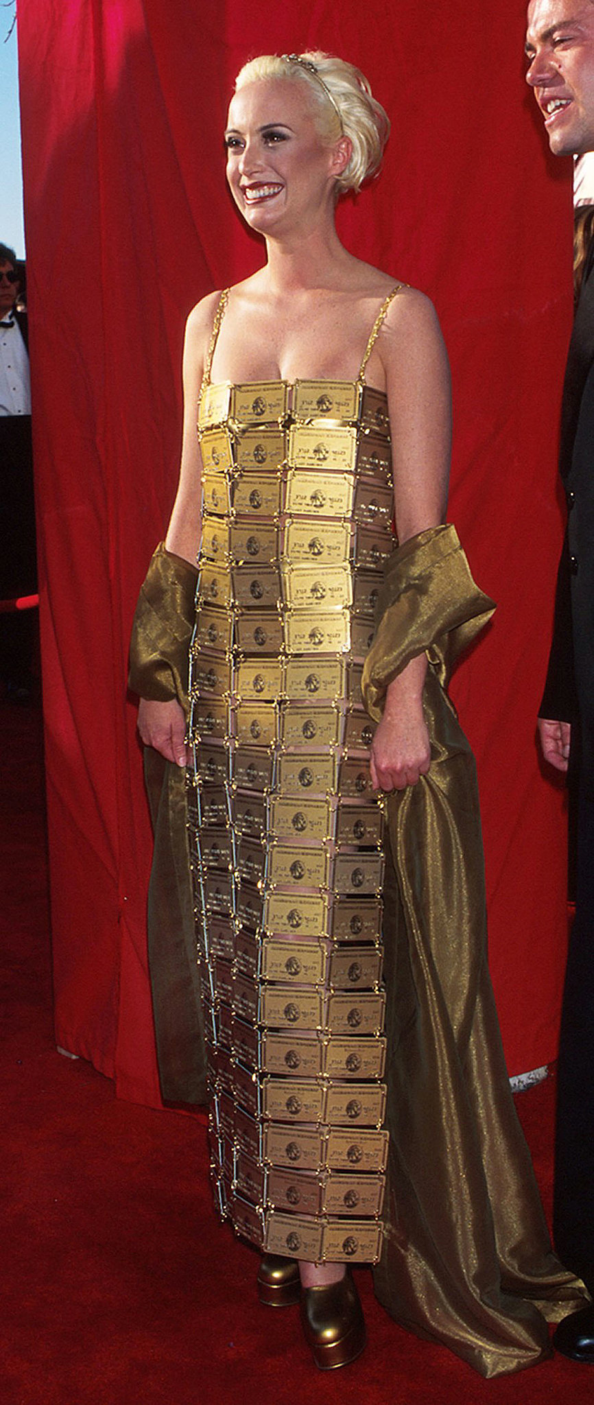Lizzy Gardiner In Her Own Design At The 1995 Academy