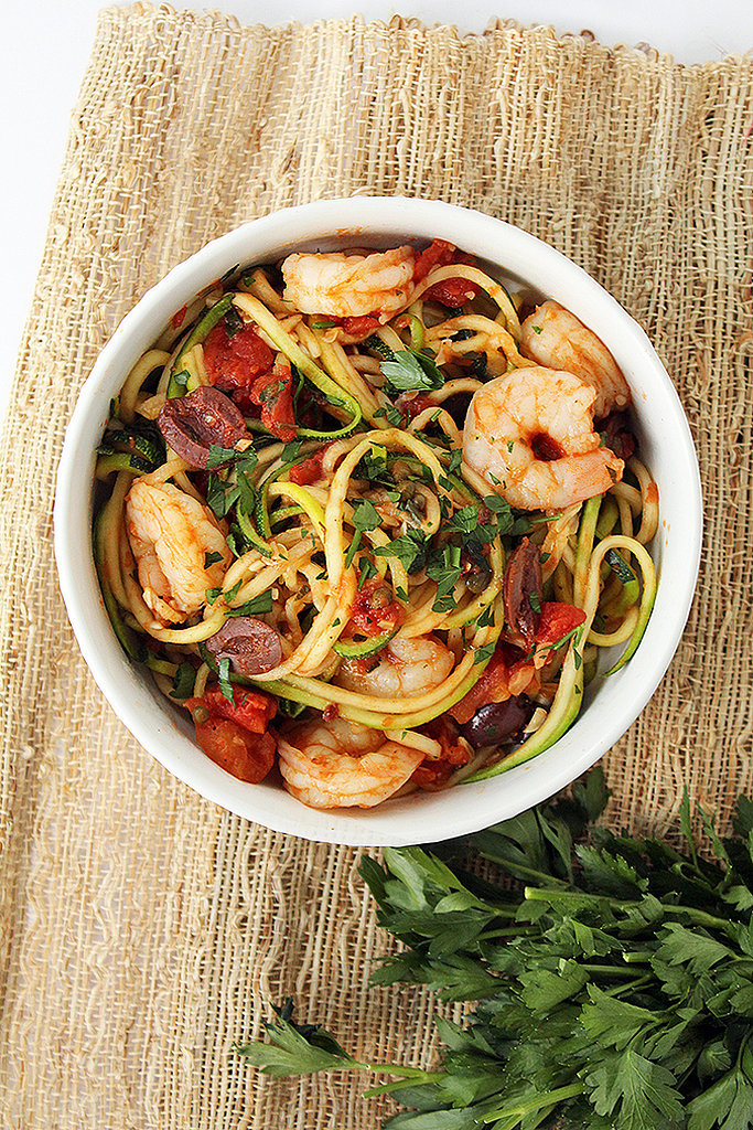 Shrimp Zucchini Pasta Puttanesca