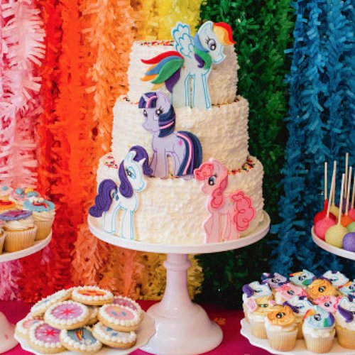 Rainbow-Themed My Little Pony Party