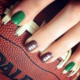 Super Bowl Nail Art Ideas