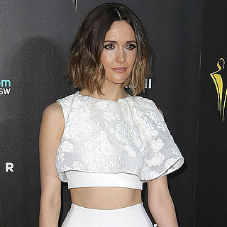 Rose Byrne White Toni Maticevski Crop Top Skirt Dress AACTAs