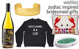 Zodiac Inspired Bridesmaid Gifts-- Shop Them Now