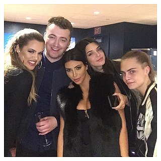Kim Kardashian and Kendall Jenner at Sam Smith Concert