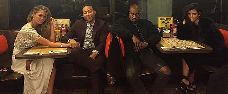 Kim Kardashian and Chrissy Teigen Brought a Lot of Style to the Waffle House
