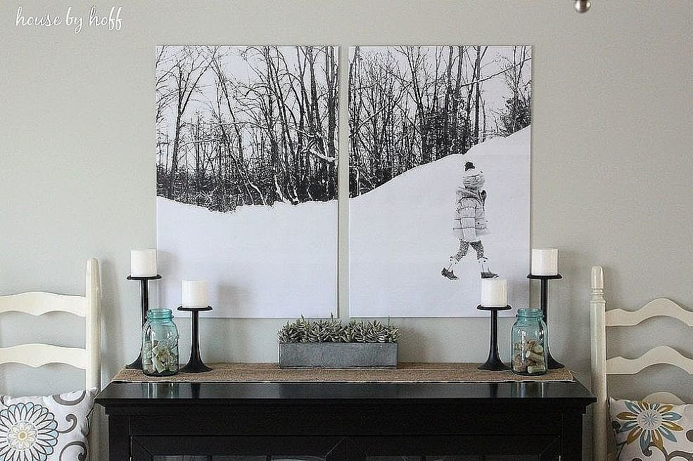 Turn your photos into wall art for less than $10. Who can beat that?