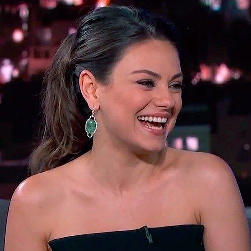 Mila Kunis Talks Diapers on Jimmy Kimmel Live
