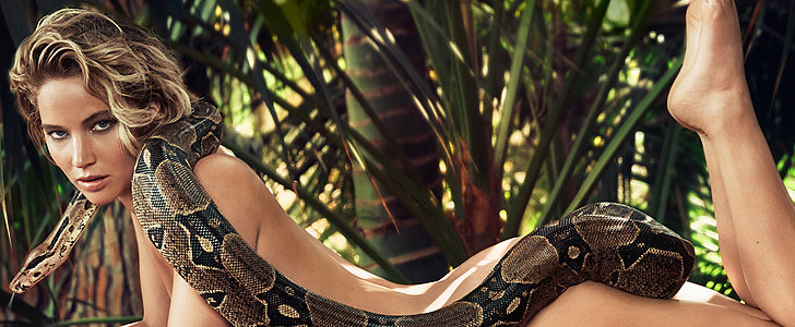 Jennifer Lawrence Bares All — With a Boa Constrictor!