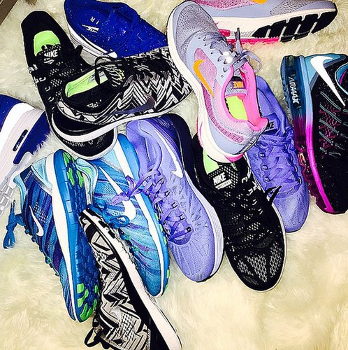 Khloé Kardashian's huge sneaker collection is a big fitness motivator for the workout-loving star.