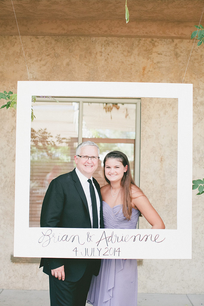 . . . and your guests! Add your beloved's and your names, plus the wedding date, at the bottom for an even more personalized touch. Source: One Love Photograph via Style Me Pretty