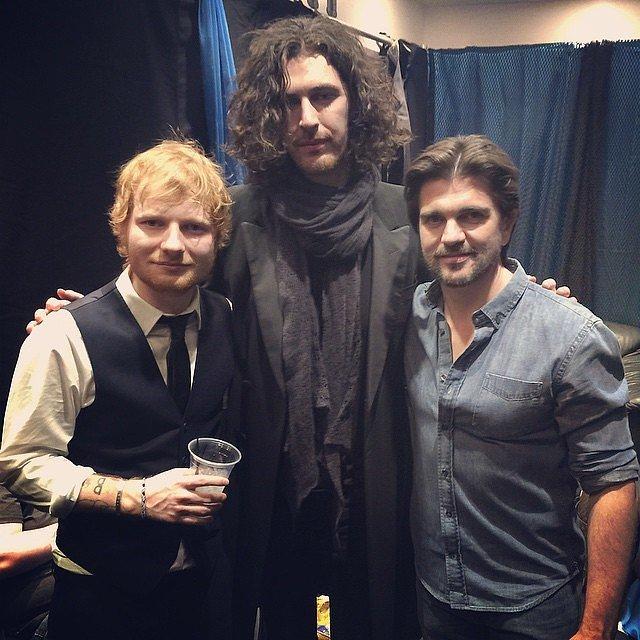 Foto de Hozier & su amigo  Ed Sheeran