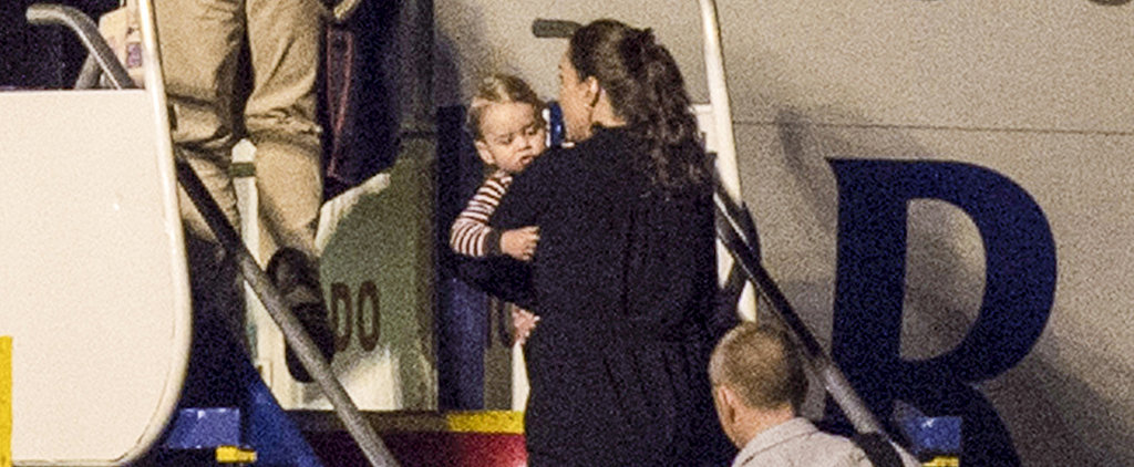 Prince George Travels in His Pajamas!
