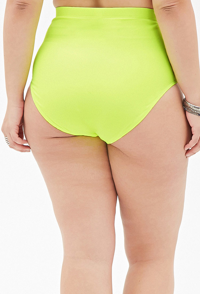 Pear shapes look best in solid bottoms, ideally sold as suit separates so you can choose the right fit.