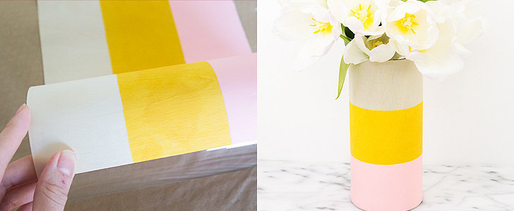 Dress Up Flowers With These DIY Colorblock Vases