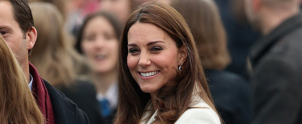Kate Middleton Shows Off Her Baby Bump With a Big Smile