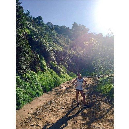 Lea Michele spent her Sunday on a sunny LA hike.