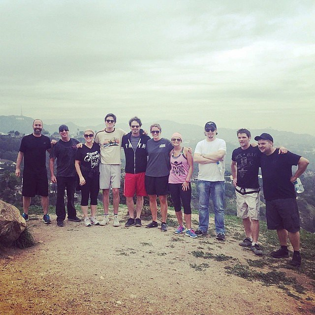 In preparation for her Grammys performance, Miranda Lambert, her band, and her crew all hiked in the Hollywood Hills.
