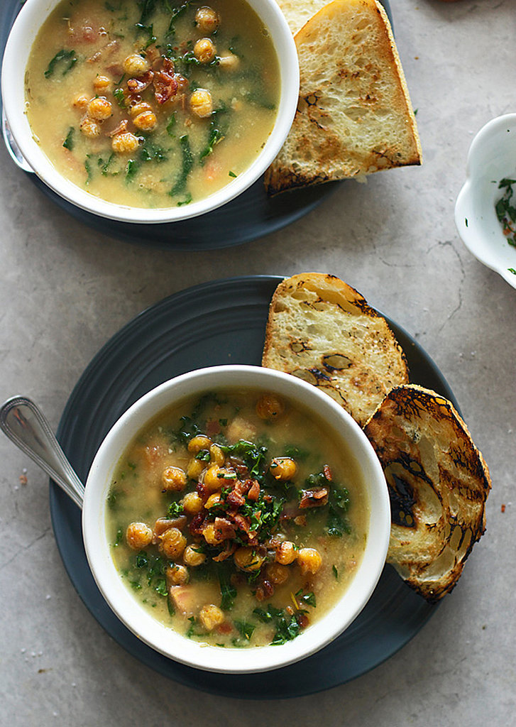 Chickpea Soup With Kale and Bacon | 30+ Soup Recipes That Are Ready in ...