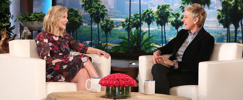 """Kristen Bell Tells Ellen She """"Really Enjoyed"""" Her Epidural"""